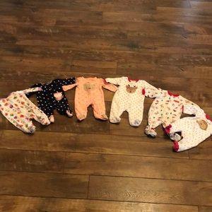 Bundle of Baby Girl Sleepers